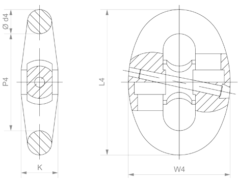 Accessories - Kenter Type Joining Shackle - drawing