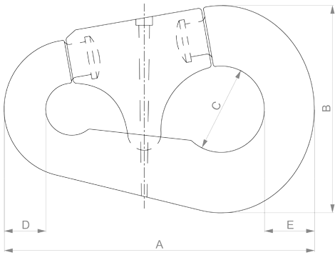 Accessories - Pear Shaped Connecting Link - drawing