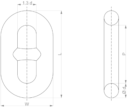 Chain - Studlink - Offshore - drawing